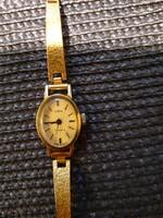 Zarja aranyozott női óra működik