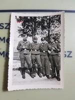 2 vh Német katona csoportkép 6,5x9cm