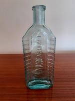 Régi kék patikai üveg Levico Vetriolo feliratos vintage palack patikaüveg18 cm