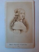 Antik fotó, Mária Terézia portréja,(festményről készült fotó)
