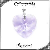 Ékszerek-medálok: Swarovski kristály medál -40mm-es szív több színben