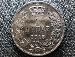 Szerbia I. Péter (1903-1918) .835 ezüst 1 dínár 1915 (id44991)