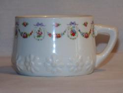 Antik vastagfalú porcelán csésze