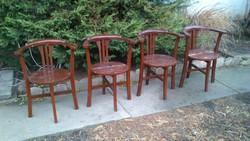 Art deco vintage karfás régi székek 4db.LEÁRAZVA!!!