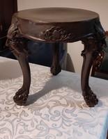 Különleges Antik Neo reneszánsz figuràlis faragott viràgtartó, szobortartó posztamensnek