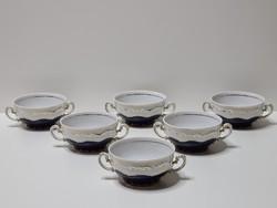 Zsolnay Pompadour Leveses csészék 6 darabos