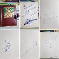 Dedikálások, aláírások 27 Db Kiskönyvben