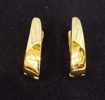 AKCIÓ -10% Nagyon szép, mutatós, 14 K sárga és fehér arany fülbevaló