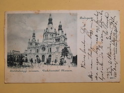 Antik levelezőlap - fotó képeslap, Budapest, Közlekedésügyi múzeum, 1901
