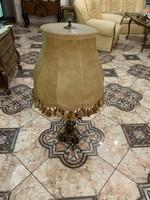 2db Hatalmas sárgaréz lámpa , disznóbőr buraval( 1 méter magas)