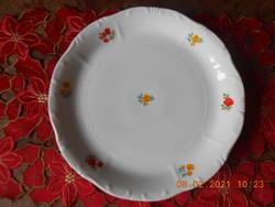 Zsolnay rózsa mintás süteményes tál