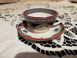 Eladó antik Francia Sarreguemines porvelán kávés csésze aljjal!