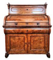 A158 Antik biedermeier íróasztal, írószekreter