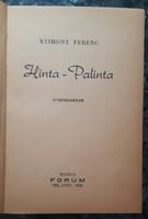 KISHONT FERENC / EFRAJIM KISHON /: HINTA - PALINTA   -  RITKA !  -  JUDAIKA