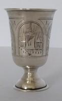 Orosz ezüst talpas pohár 1891