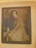Női fotó portré 1923 - Photo Leipzig