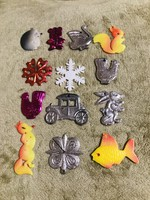 Régi retro szovjet műanyag karácsonyfadísz,állatok,figurák