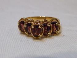 KK878 Elegáns aranyozott gyűrű