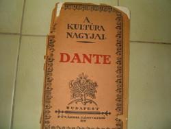 Dante a kultura nagyjai Régi könyvem 02.  1 forintról KIÁRUSÍTÁS jó licitálást