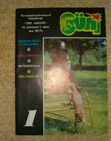 SÜNI régi újság gyerekoromból ifjúsági magazin kb 1988 ból képregénnyel KIÁRUSÍTÁS 1 forintról