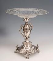 Ezüst nagy méretű asztalközép
