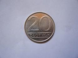 Lengyelország 20 Zlotych 1984  aUNC