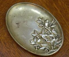 Eredeti jelzett francia art deco bronz tálka, ékszertartó