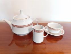Retro Alföldi porcelán teás kanna csésze kiöntő