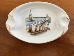 Aquincum retro porcelán tálka, balatoni emlék