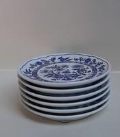 4283 -  Hagyma mintás porcelán mogyoros tányérkák (6db)