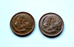 Ausztrália - 2 db - 1 cent - 1972  & 1983  - II. Erzsébet királynő