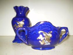2 db porcelán virágos váza 12x8 cm. és 15x8 cm. egyben hibátlanok 2 000 Ft