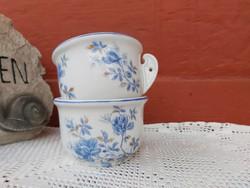 2 db kék virágos komabögre, komacsésze ritka Gyűjtői darabok, nosztalgia, paraszti dekoráció