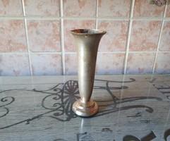 Ezüstözött kis váza