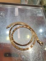 Arany 14k nyaklánc gyönyörű vésett mintával, (kétoldalas) 11,86 g