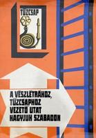 Munkavédelmi plakát poszter karton papír 46x66cm