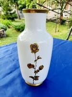 Arany rózsa dekoros Bavaria váza