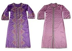 Vintage retró gyönyörűen hímzett marokkói 2 darabos meseszép ruha kaftán