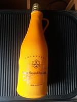 Pezsgő palack tartó, ajándék dísz tok-francia pezsgő Veuve Clicquot Ponsardin