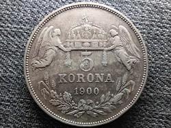 Ferenc József (1848-1916) .900 ezüst 5 Korona 1900 KB (id46200)