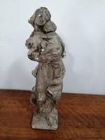 Szűz Mária a kisdeddel gipsz szobor