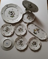 Herendi porcelán Rotschild mintás süteményes készlet