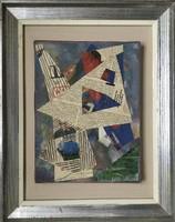 Weinberger Róbert Budapest - Páris (1936 - ) Paletta- 1988 Olaj-vászon-kollázs