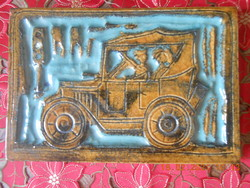Zsolnay pirogránit falikép 29,5 x 19,5 cm