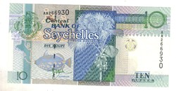 10 rupia rupees 1998 Seychelles szigetek UNC