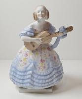 Herendi gyönyörű festésű Déryné porcelán szobor