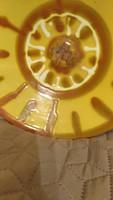 Mázas Kerámia tál jelzett 30 cm