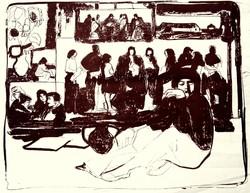 """Koszta Rozália (1925-1993): Korsós önarckép műteremben - """"Vázlat az Emlékezéshez"""""""