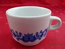 Alföldi porcelán, kék mintás kávéscsésze, átmérője 6,5 cm.
