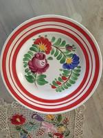 Meseszép Mezőkövesd Virágos porelán motívumos tányér - falitányír dísz - Matyó Hisz